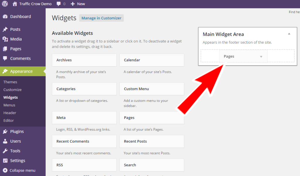 How To Add/Manage Widgets In WordPress