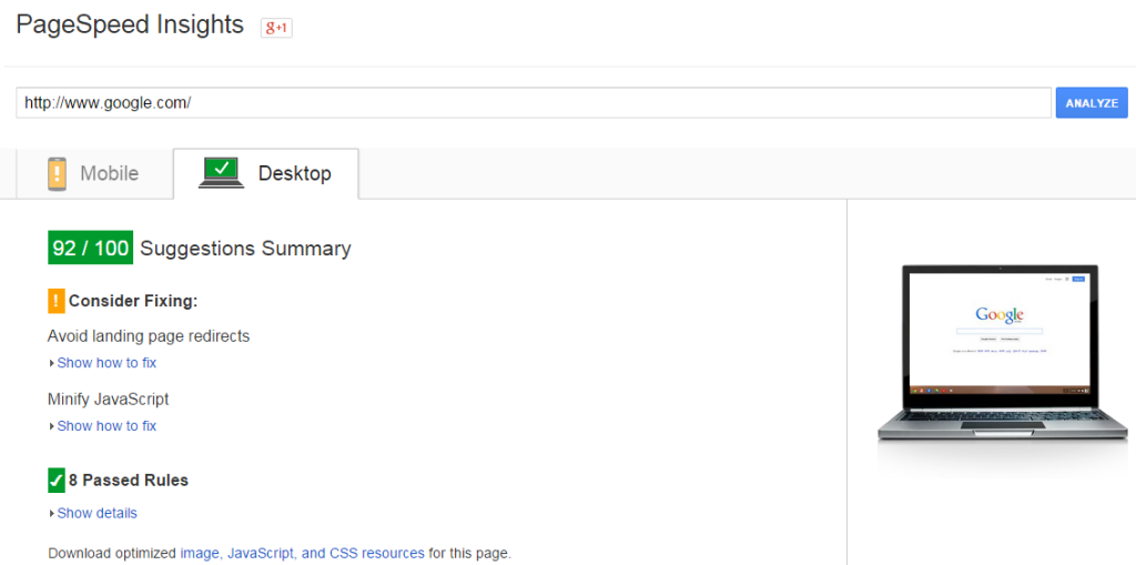 SEO Onpage Google Site Speed