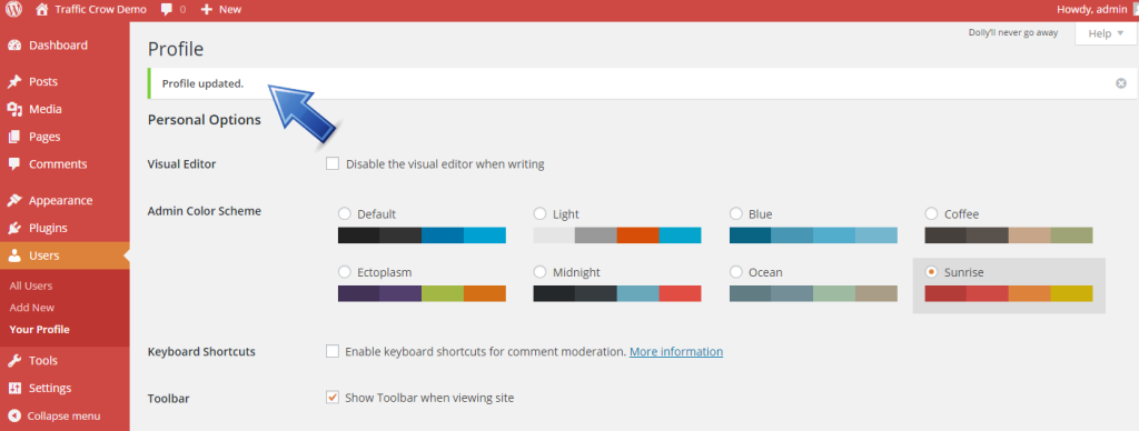 How To Change The Color Scheme of The WP Admin Panel