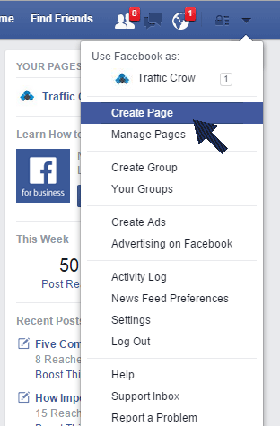 How to Create a Facebook Business Page in 4 Simple Steps 1