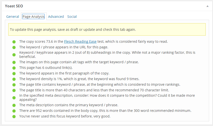 How To Resolve the mistake in page analysis yast SEO 11
