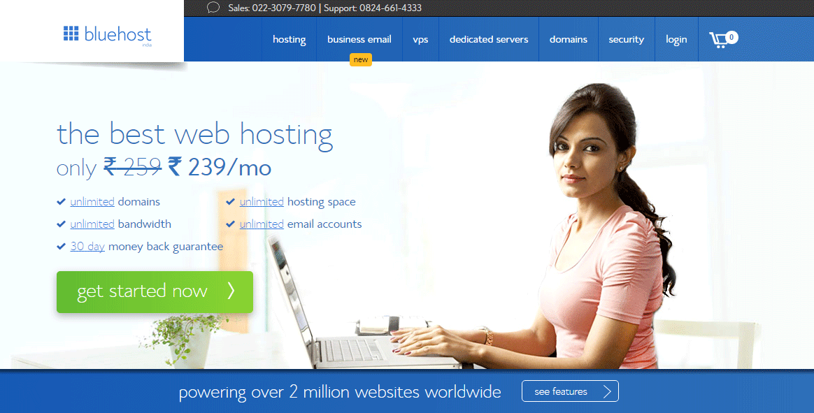 Bluehost-India-Web-Hosting-Review-2015