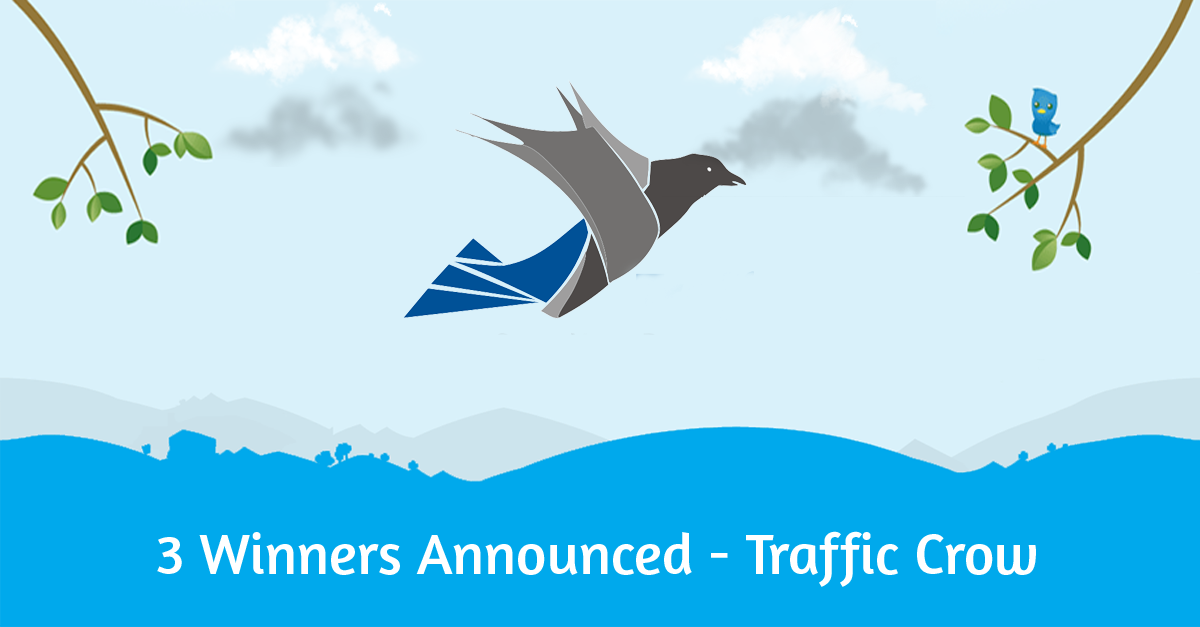 Giveaway 3 Winners Announced - Traffic Crow