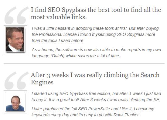 SEO SpyGlass Testimonials