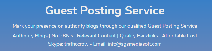 Traffic Crow - Top Guest Posting Services