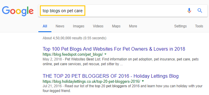 Google-Search-to-find-top-blogs
