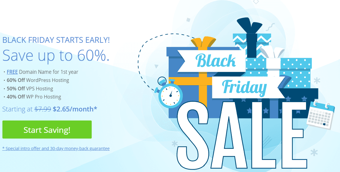 Bluehost Black Friday Sale Deals 2019
