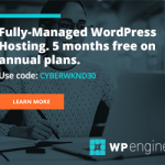 WP Engine Black Friday Banner