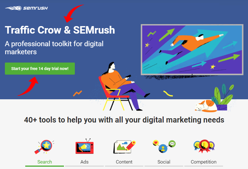 SEMRush partner page
