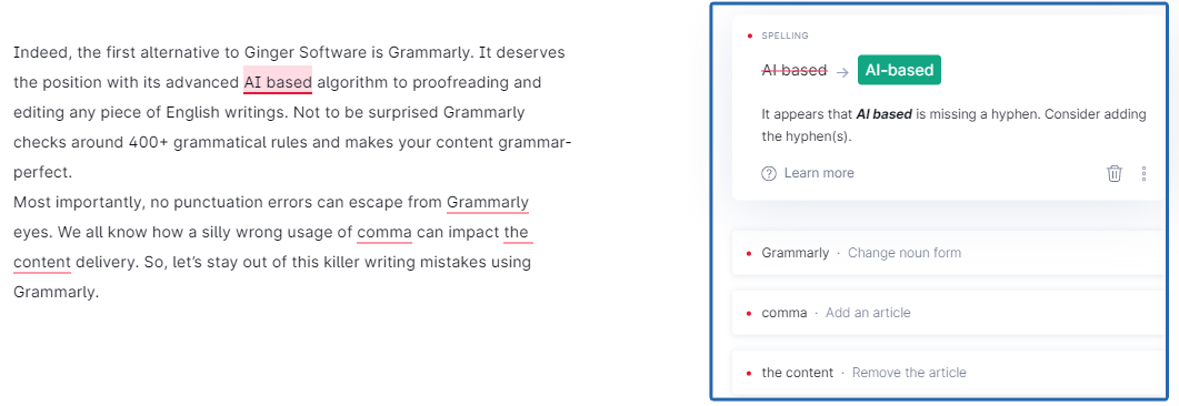 Grammarly Free Tool
